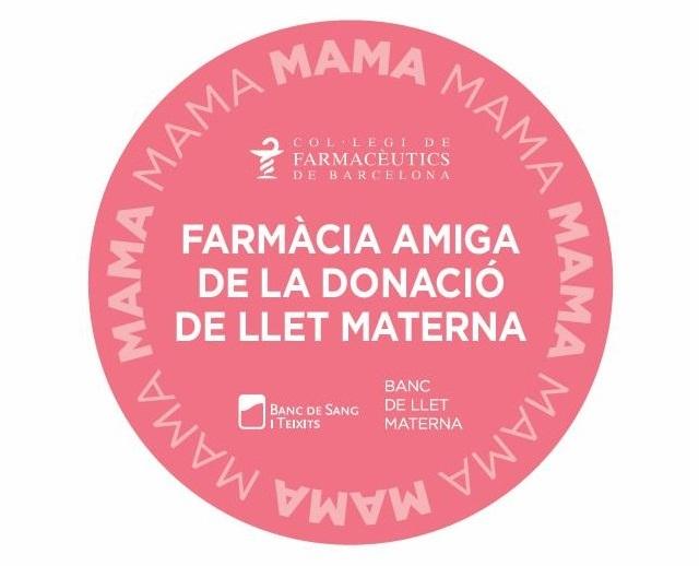 Distintiu per les farmàcies donació llet materna