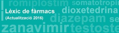TERMCAT. – Lèxic de fàrmacs 2016