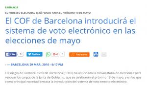L'article de Acta Sanitaria sobre les eleccions