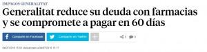La Vanguardia informant sobre aquesta reducció del pagament