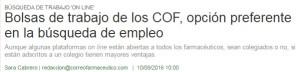 Correo Farmacéutico va recollir declaracions de Mònica Gallach, responsable de l'àrea de Formació del Departament de Formació i Desenvolupament del COFB, en la notícia sobre formació als COFs