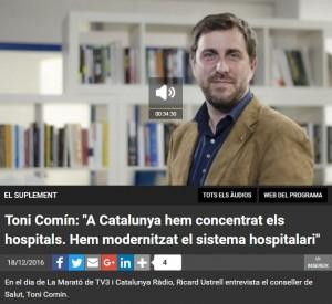 Toni Comín a Catalunya Ràdio