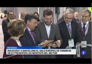 TVE Catalunya informant de la inauguració d'Infarma