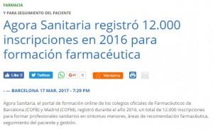 Acta Sanitaria i les xifres d'inscripcions d'Àgora Sanitària