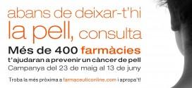 Més de 300 farmàcies de Barcelona contribuiran a la prevenció i detecció precoç dels riscos de patir un càncer de pell