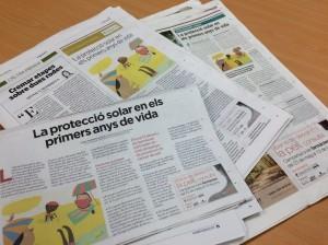 L'article publicat als tres diaris