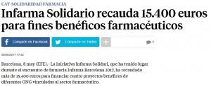 La Vanguardia informant sobre els resultats d'Infarma Solidari