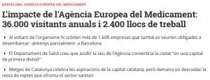 Nació Digital va explicar la possibilitat que Barcelona fos la nova seu de l'EMA
