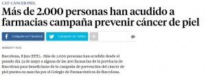 Les primeres xifres de participacio a La Vanguardia