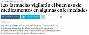 Les farmàcies sentinella a La Vanguardia