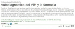 Tribuna de Guillermo Bagaria, vicetresorer del COFB