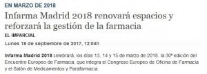 Les primeres novetats d'Infarma Madrid 2018 van ser notícia a El Imparcial