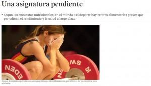 Diario de Sevilla i la jornada de nutrició esportiva on va participar el COFB
