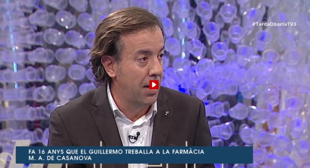 Guillermo Bagaria al programa Tarda Oberta de TV3