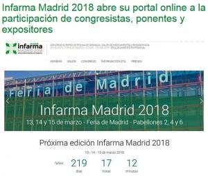 Obert el portal web d'Infarma Madrid 2018 a imFarmacias
