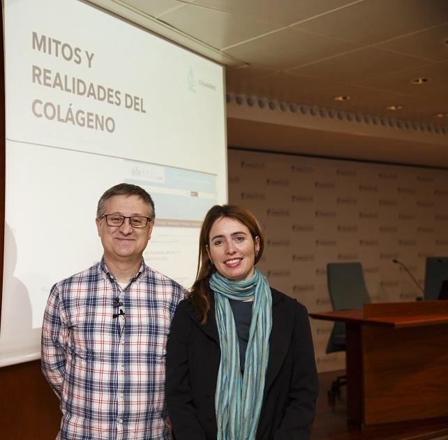 Juan Martínez i Anna Bach durant la conferència.
