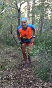 Susagna Lucas, durant el trail.