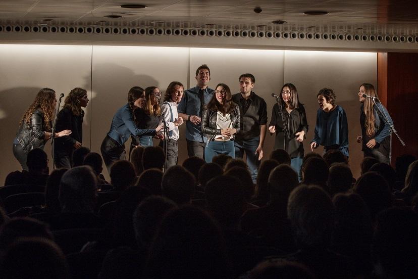 Un moment de l'actuació del grup In Crescendo a la Sala d'Actes del COFB