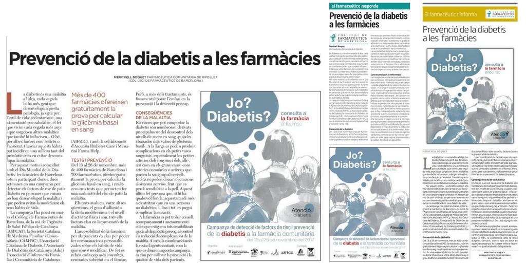 Publicació del primer article divulgatiu a L'Ara, El Periódico i La Vanguardia, respectivament