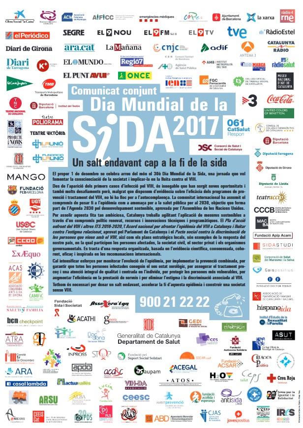 Comunicat Dia Mundial de la Sida 2017