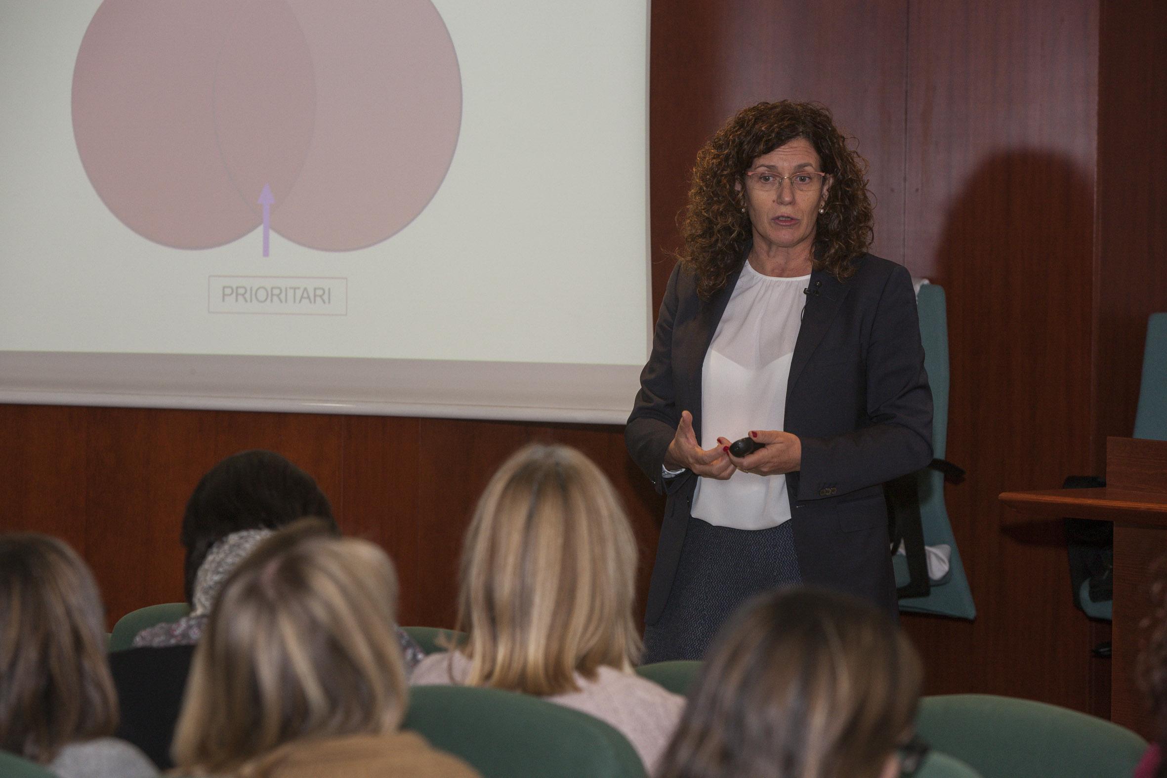 """Un moment de la conferència """"1 hora de lideratge amb Carme Ledesma"""""""