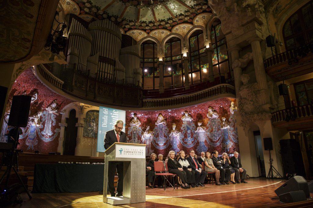 El president del COFB, Jordi de Dalmases, durant el seu discurs.
