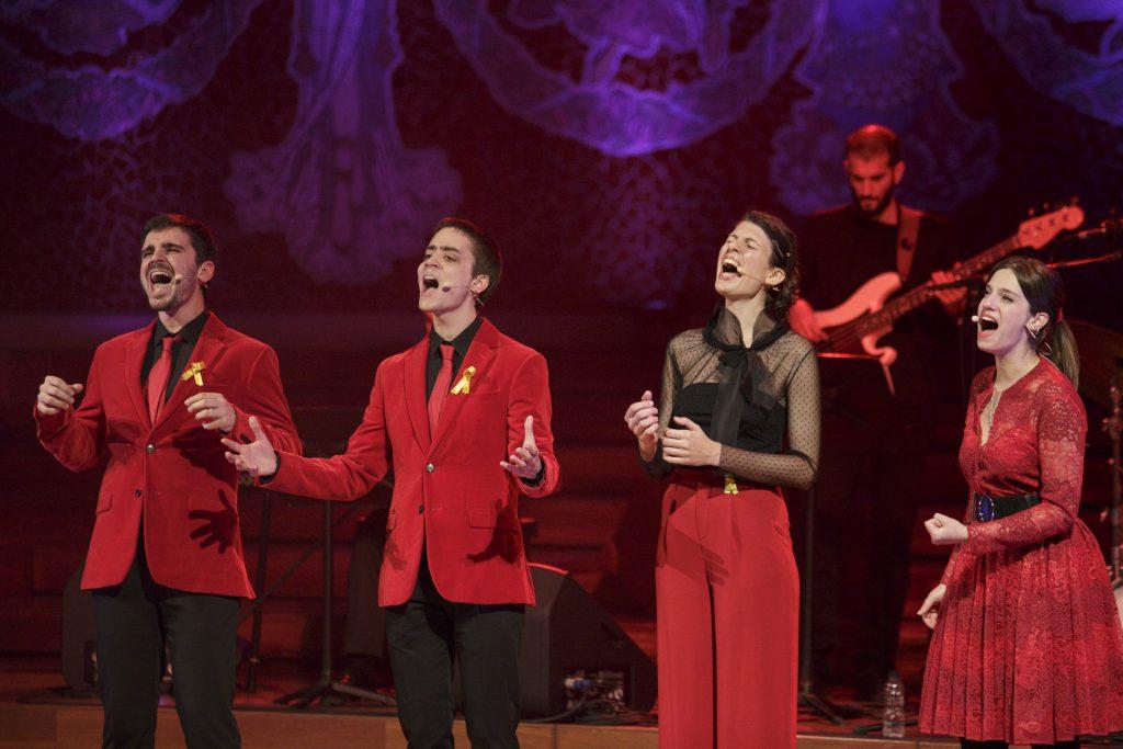 Moment de l'actuació del Quartet Mèlt, guanyador de la tercera edició de l'Oh Happy Day de TV3.