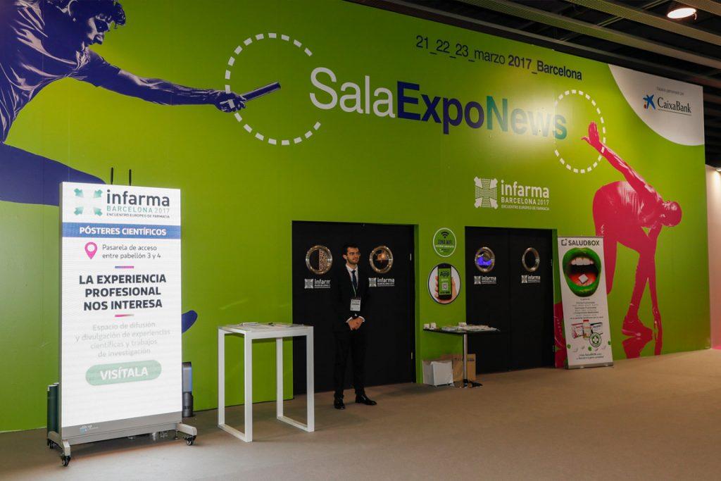 Sala Exponews de l'edició d'Infarma Barcelona 2017.