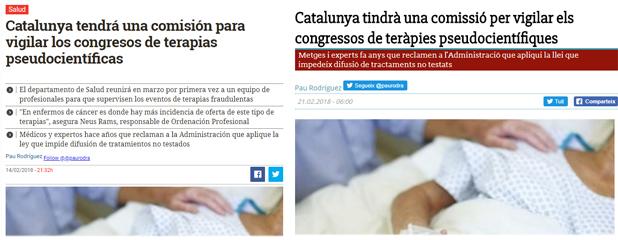 El COF de Barcelona adherit a la comissió, com informen Diario.es i Diari de la Sanitat