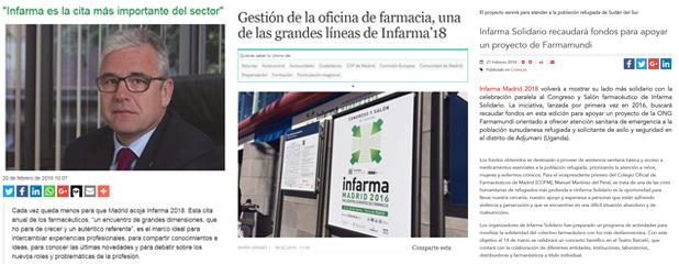 Algunes repercussions d'Infarma Madrid 2018