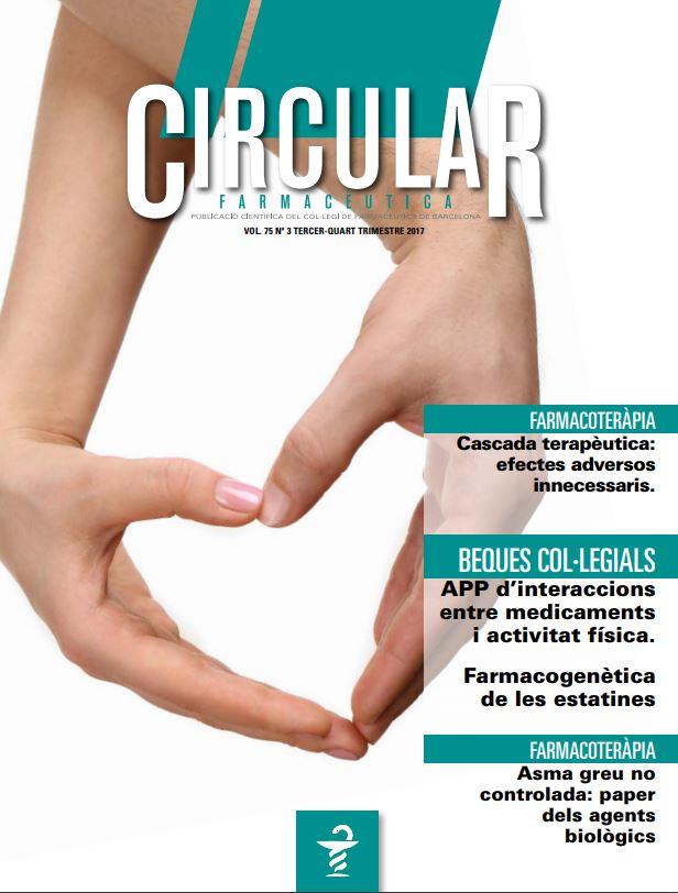 Circular Farmacèutica número Vol. 75, núm. 3, tercer i quart trimestre 2017