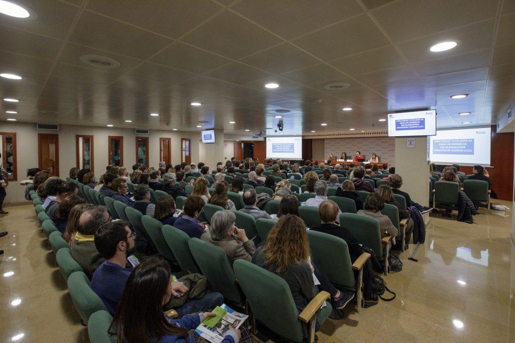 Moment de la presentació del programa de Pràctiques Tutelades del Grau de Farmàcia IQS - Blanquerna (URL).