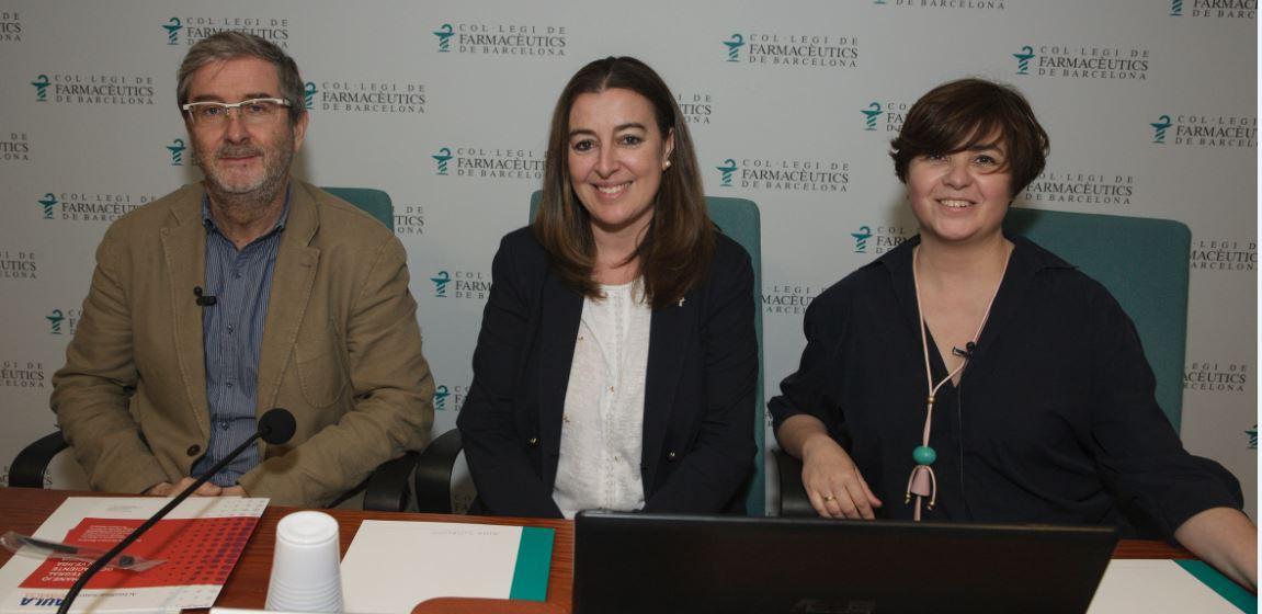 Carlos Errando, Aina Surroca i Áurea Toledo.