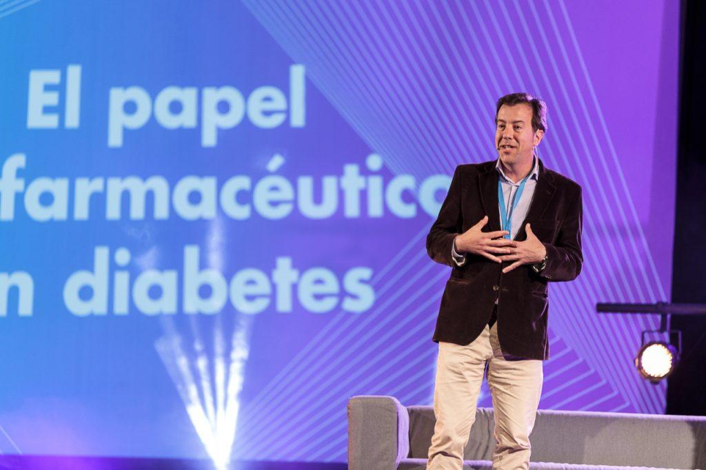 GuillermoBagaria en un moment de la seva intervenció al Diabetes Experience Day.