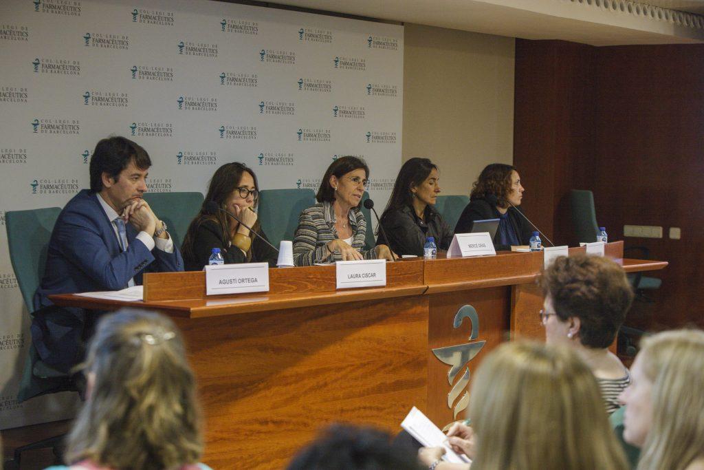 Els ponents del Fòrum MGOF, durant un moment de la conferència.