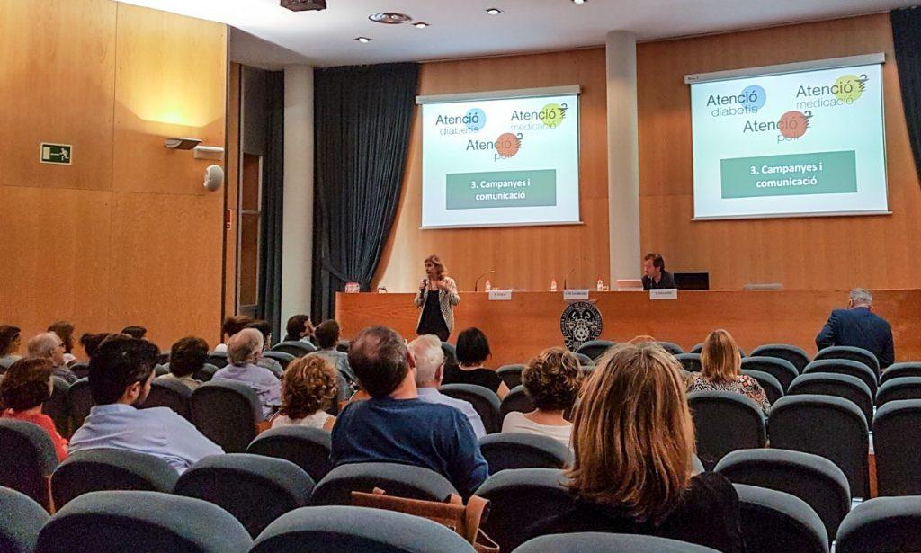 La vicepresidenta del COFB, Núria Bosch, en un moment de la seva presentació a Terrassa