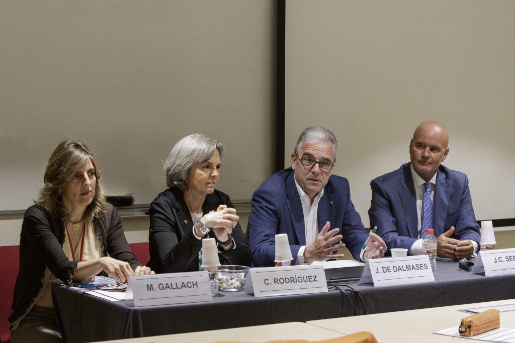 Mònica Gallach, Crisitna Rodríguez, Jordi De Dalmases i Joan Carles Serra.