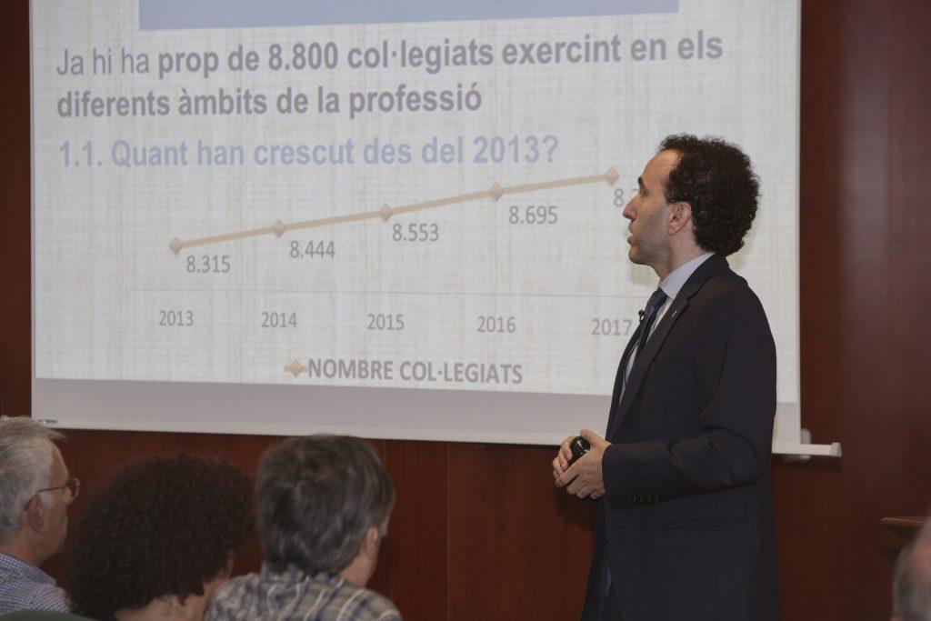 Jordi Casas, en un moment de la presentació de l'Informe de Secretaria.