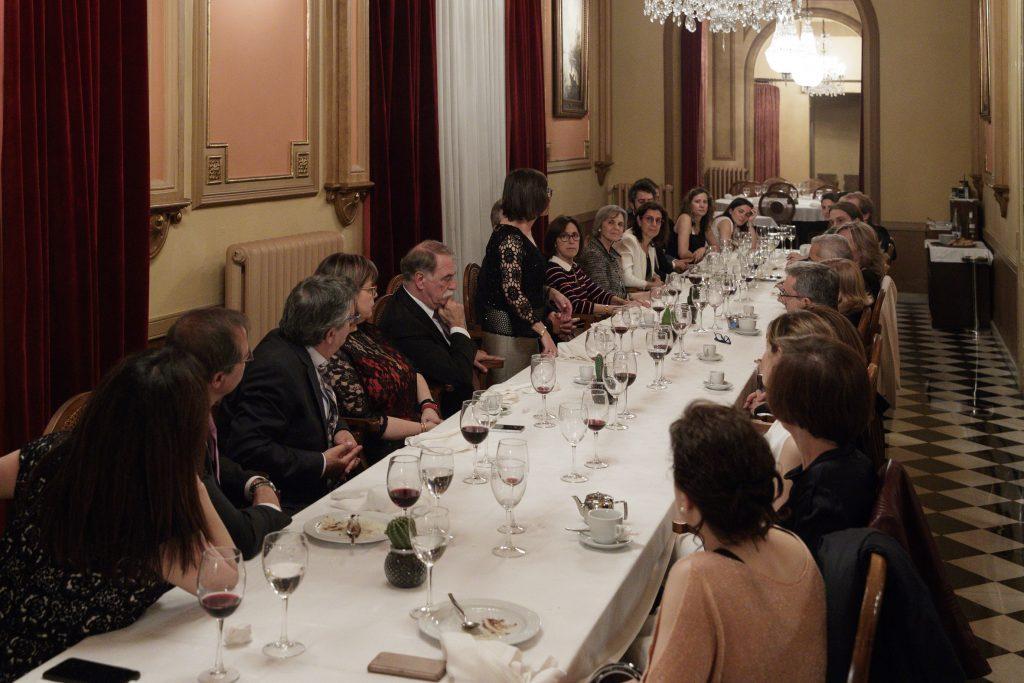 El sopar de clausura de la V edició del Màster es va fer al Cercle del Liceu.