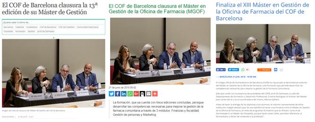 Diferents notícies de la premsa especialitzada sobre la clausura del MGOF