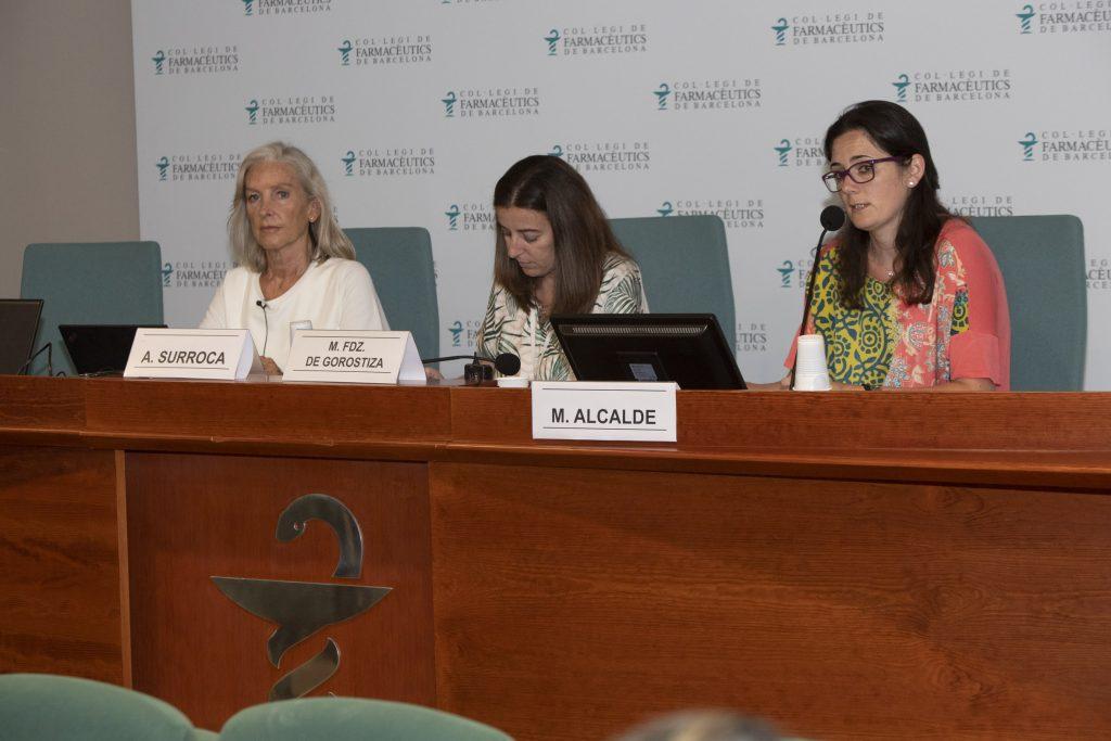 Eulàlia Mateu, Aina Surroca i Marta Alcalde.