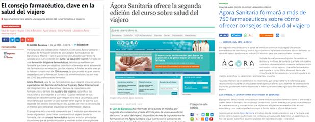 Diversos mitjans van informar sobre el curs d'Àgora Sanitària