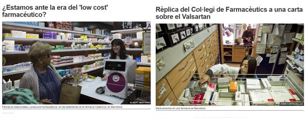 Les dues cartes a El Periódico sobre l'alerta del Valsartan