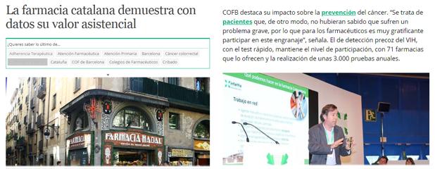 Diariofarma informant dels diversos serveis assistencials que es duen a terme a Barcelona i Catalunya.