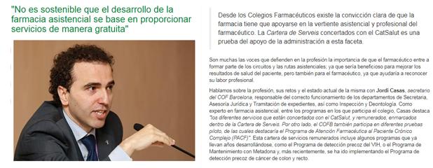 L'entrevista d'IMFarmacias a Jordi Casas.