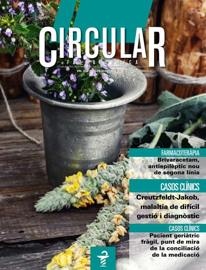 Circular Farmacèutica número Vol. 76, núm. 2, segon quadrimestre 2018
