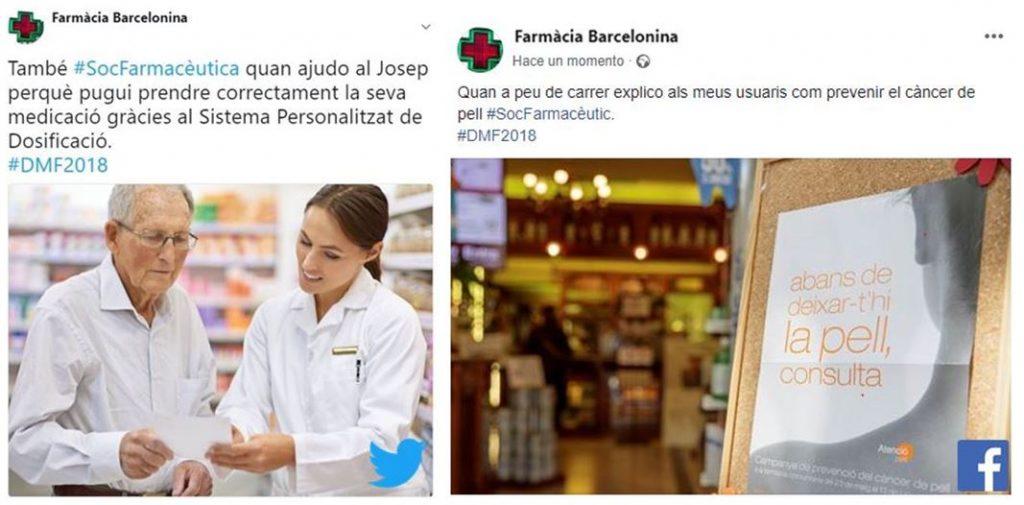 Exemples d'experiències que els farmacèutics poden compartir a la xarxa amb motiu del Dia Mundial.