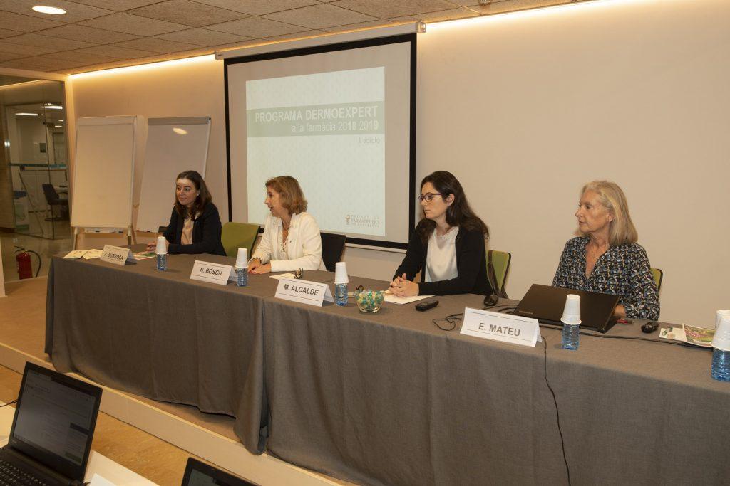Aina Surroca, Núria Bosch, Marta Alcalde i Eulàlia Mateu.