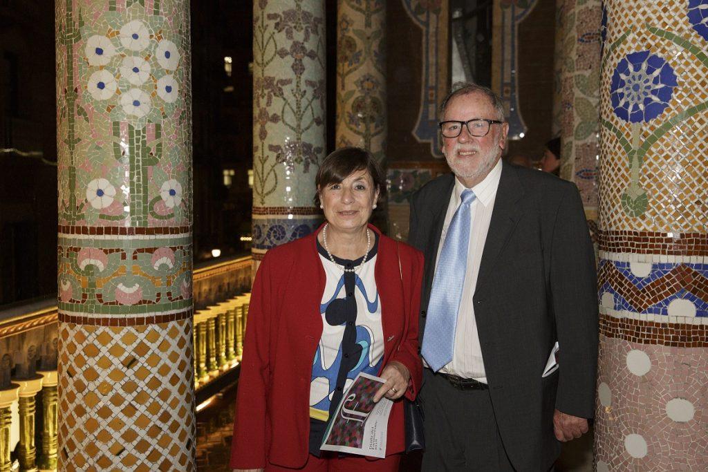 Maria del Carme Callol i Ignasi Genís, homenatjats pels seus 50 anys de col·legiació.