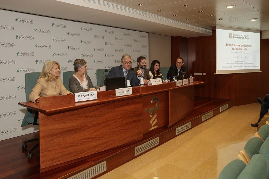 """Inici de la sessió """"Serialització de Medicaments en la distribució"""", celebrada el passat 22 de novembre al COFB."""